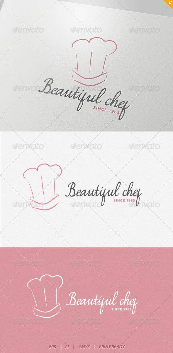GraphicRiver Beautiful Chef Logo 4234302