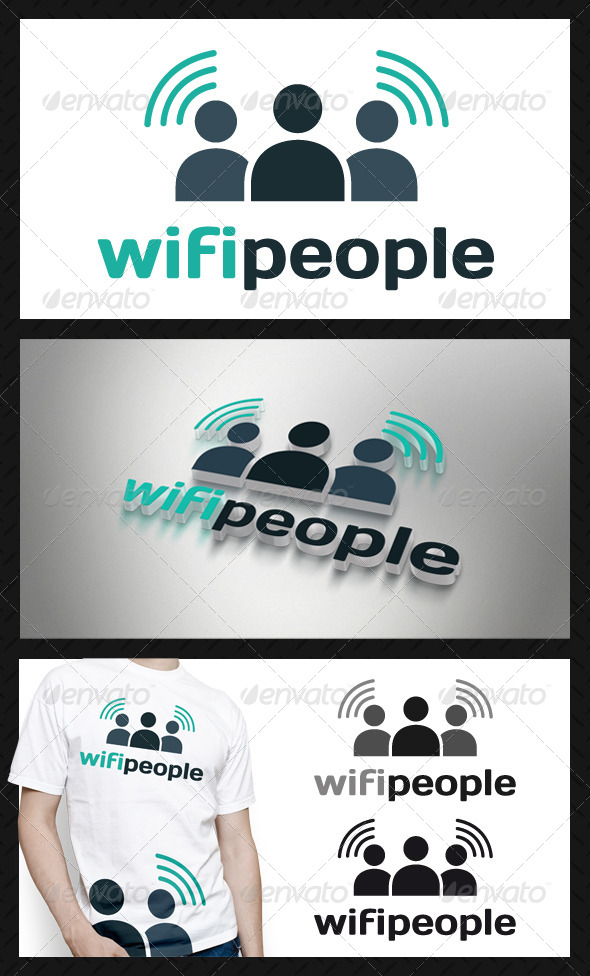 GraphicRiver Wifi People Logo Template 4234564