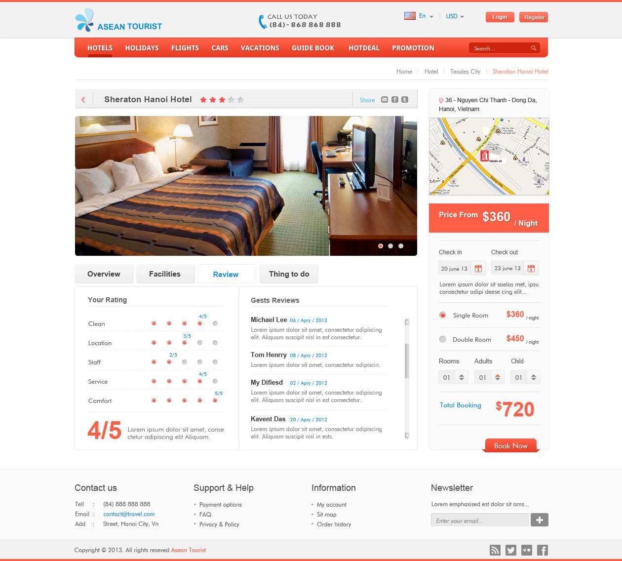 Travel Booking Online - PSDs