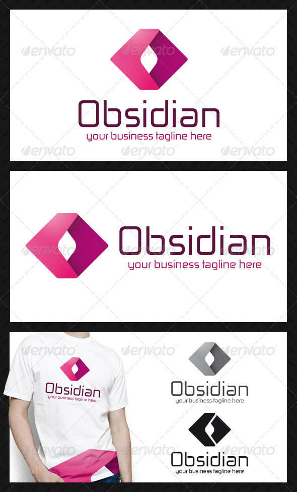 GraphicRiver Obsidian Media Logo Template 4234952
