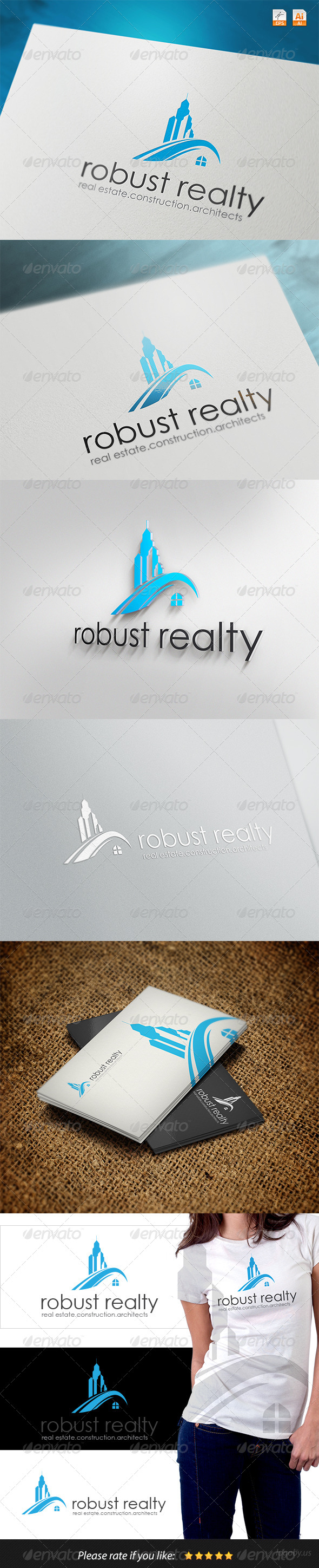 GraphicRiver Robust Real Realty Logo 4128361