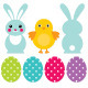 Easter Design Elements Set - GraphicRiver Item for Sale