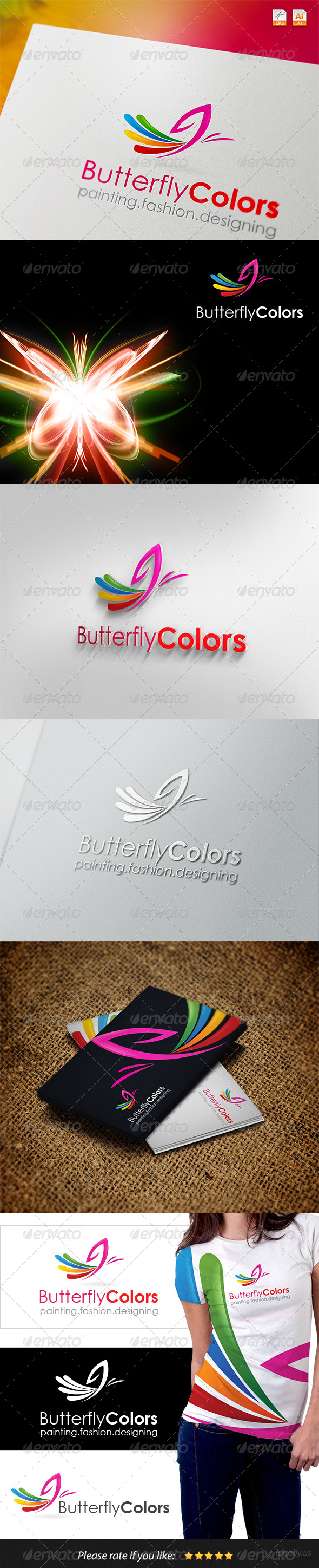 GraphicRiver Butterfly Colors Logo 4130067