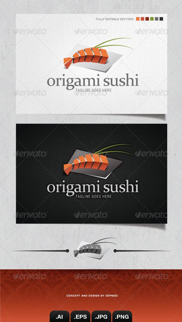 GraphicRiver Origami Sushi Logo 4132690