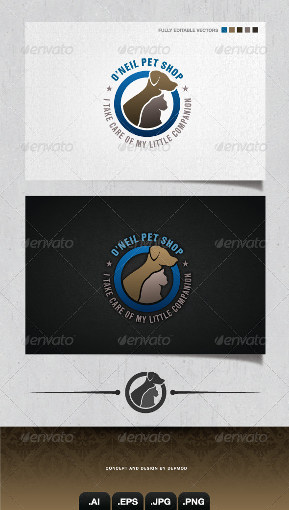 GraphicRiver O Neil Pet Shop Logo 4135048
