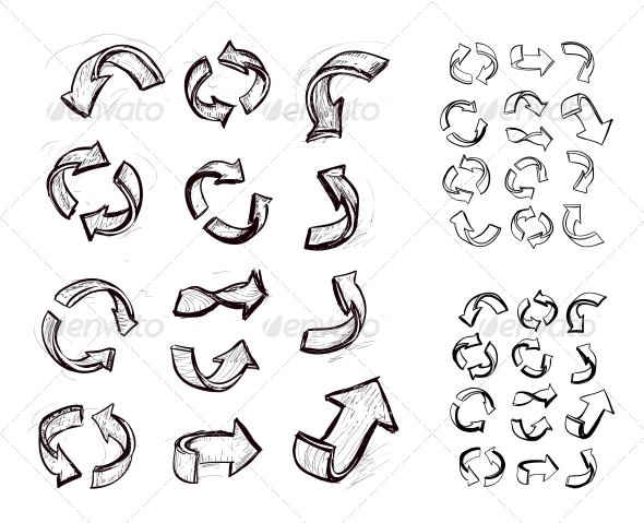GraphicRiver Hand Drawn Arrows Set 4235855