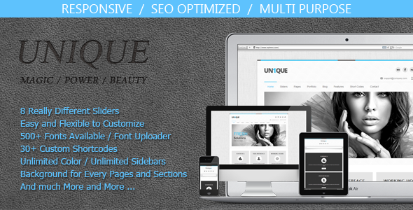 ThemeForest Unique Magic Power Beauty 3909455
