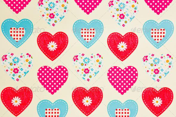 PhotoDune hearts texture 4236505