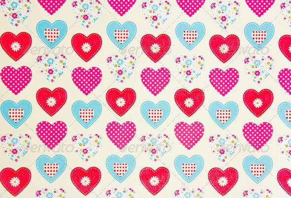 PhotoDune hearts texture 4236514