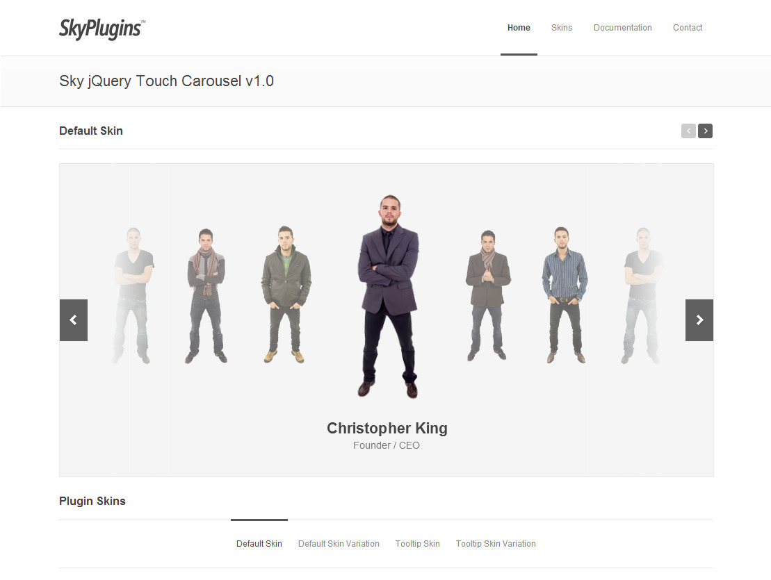 Sky jQuery Touch Carousel