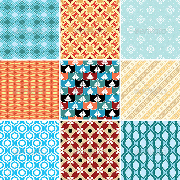 GraphicRiver Abstract Vector Patterns 4236972