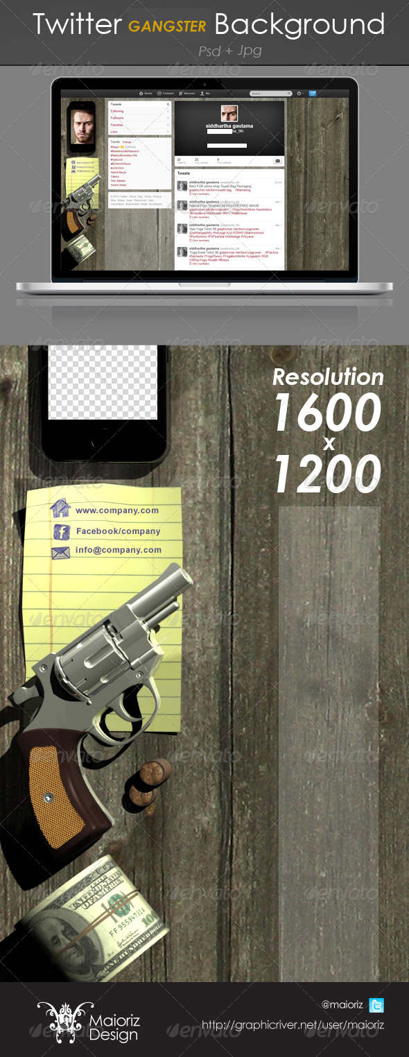 GraphicRiver Gangster Twitter Background 4173011
