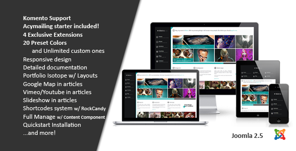 ThemeForest Metro Creative Unlimited Colors Joomla Template 4237879