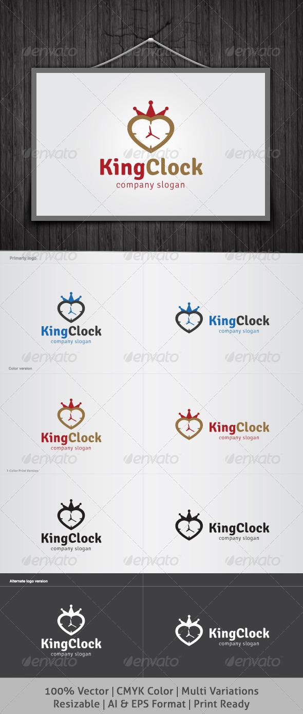 King Clock Logo - Objects Logo Templates