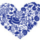 Download Vector Heart Made of Fishes, Corals, Shells, etc