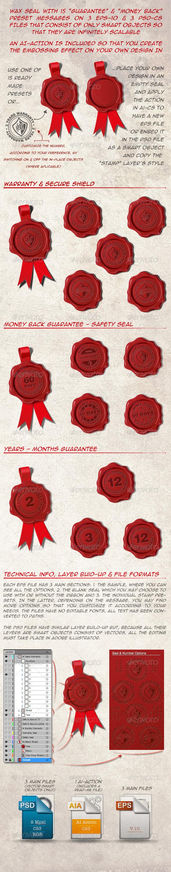 GraphicRiver 15 Wax Seal Warranty Guaranty Money Back 4150817