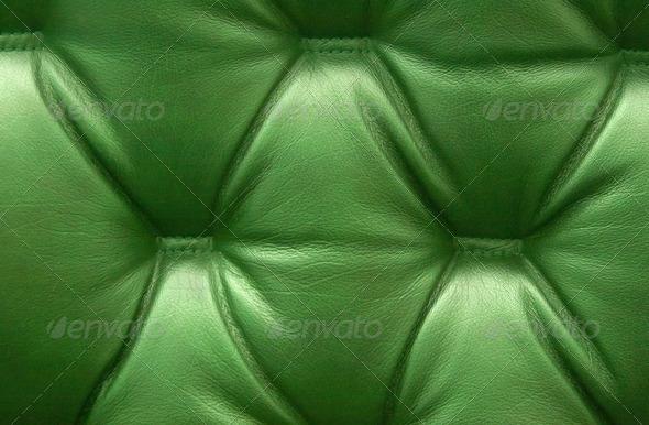 PhotoDune Green leather upholstery 4238360