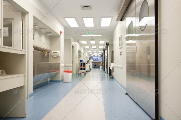 PhotoDune Empty hospital corridor 459133