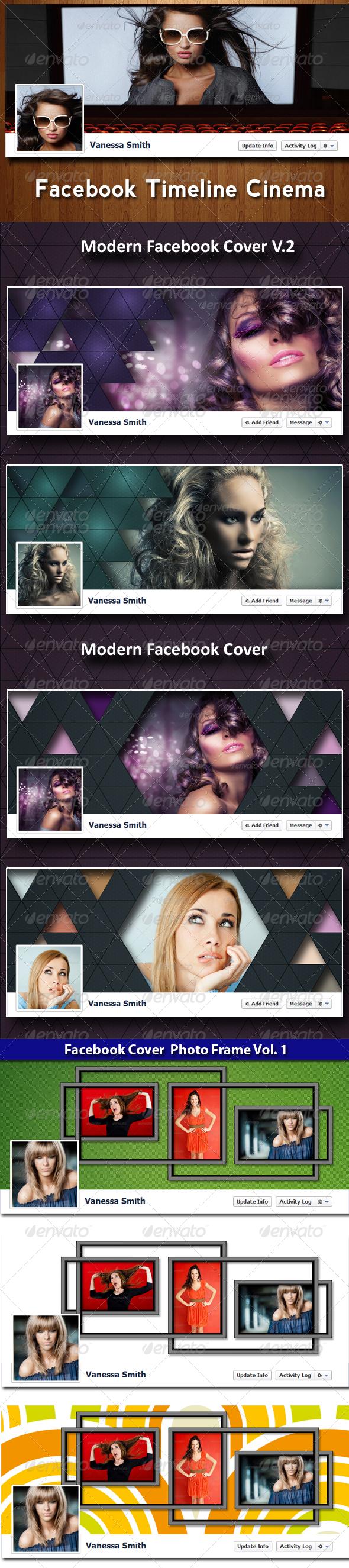 GraphicRiver Facebook Timeline Covers Bundle 4238349