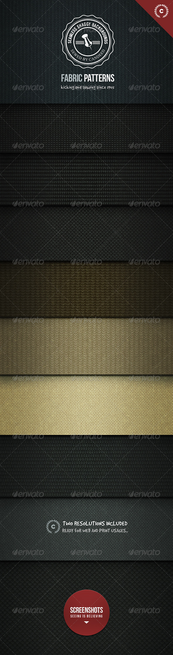 Seamless Shaggy! Fabric Texture Background - Patterns Backgrounds