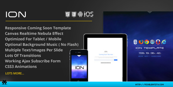 Ion - Theatrical Coming Soon Template