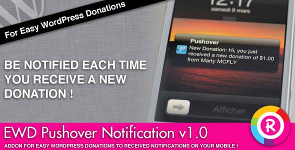 CodeCanyon Easy WordPress Donations Pushover Notification 4238641