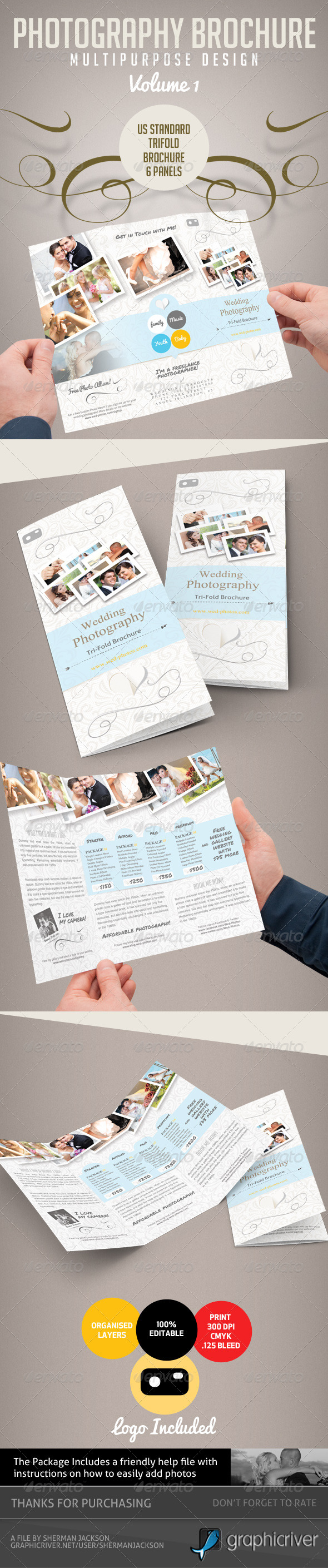 Pro Photography Trifold Brochure - Volume 1 - Brochures Print Templates