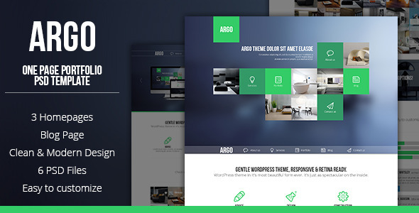 ThemeForest Argo One Page Portfolio PSD Template 4228882