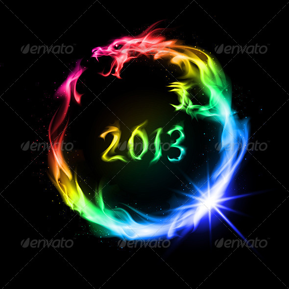 GraphicRiver Fire Dragon 4238827