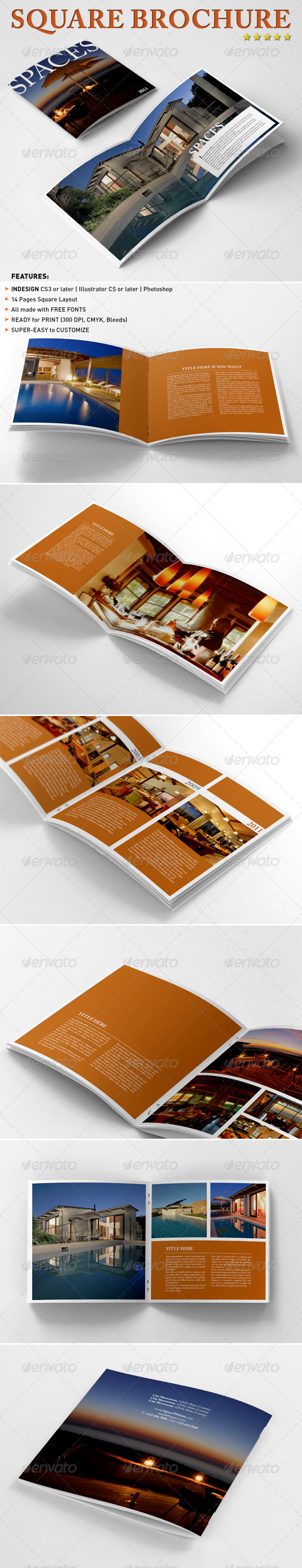 Square Brochure / Booklet - Corporate Brochures
