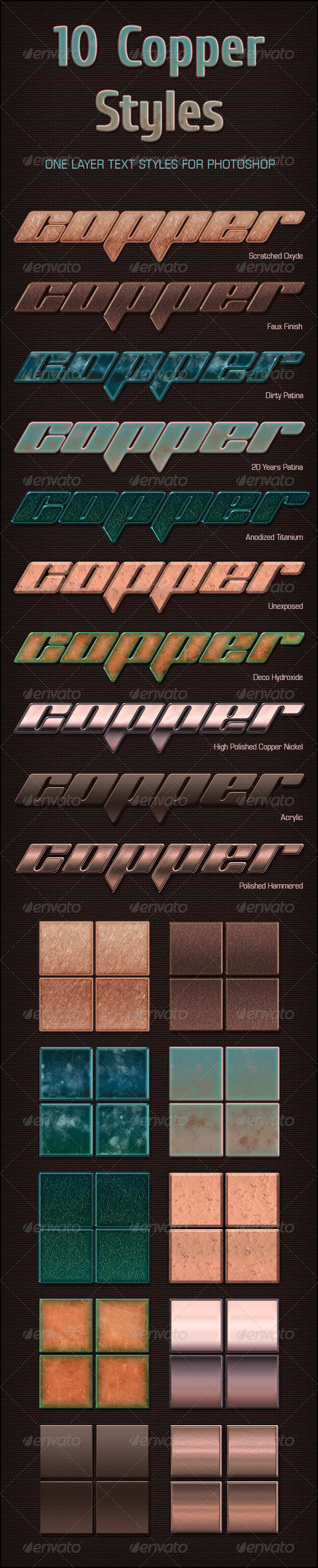 GraphicRiver 10 Copper Text Styles 4239093