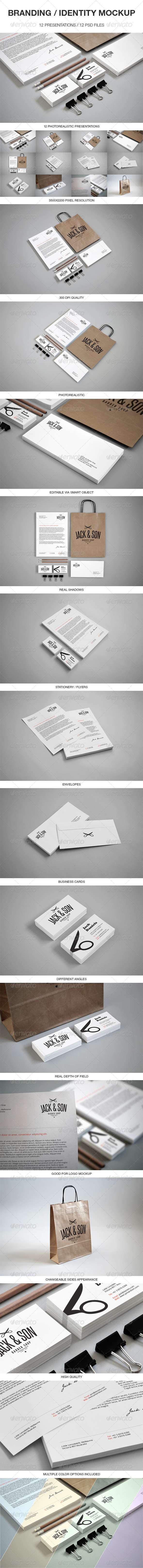 Branding / Identity Mockup - Print Product Mock-Ups
