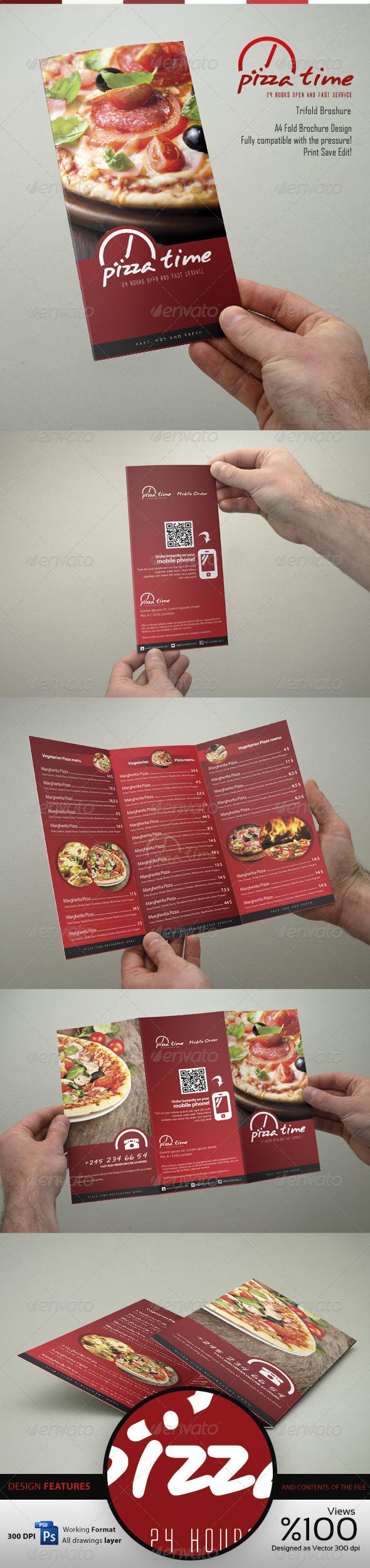 GraphicRiver Food Menu Trifold Broshure V1 4239768