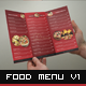 Food Menu Trifold Broshure V1 - GraphicRiver Item for Sale