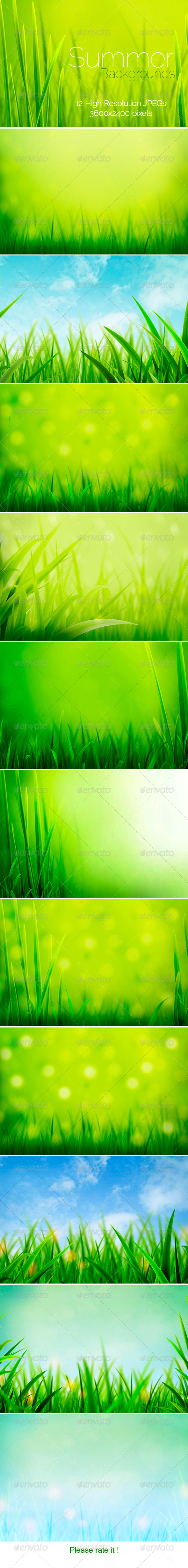 GraphicRiver Summer Backgrounds 4239771