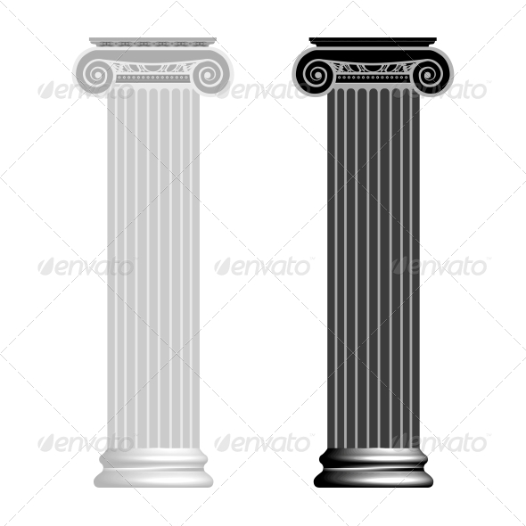 GraphicRiver Ionic Column Isolated on White Background 4239990