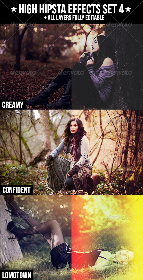 GraphicRiver High Hipsta Effects Set 4 4240001