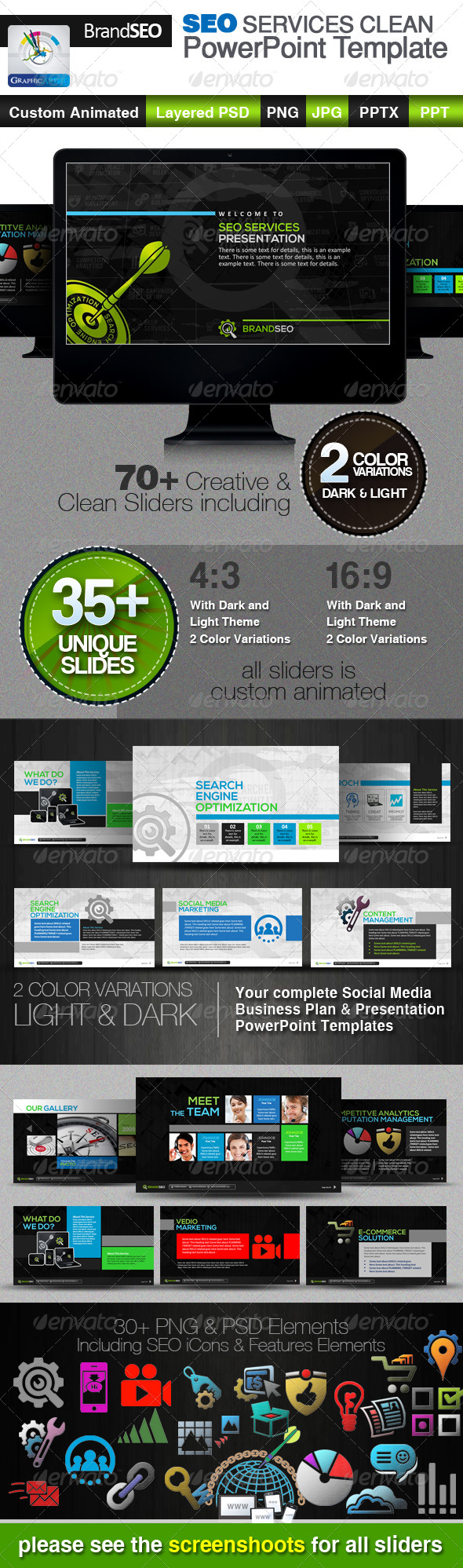 GraphicRiver BrandSEO SEO Services PowerPoint Templates 4240112