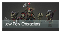 Collection-low-poly-characters