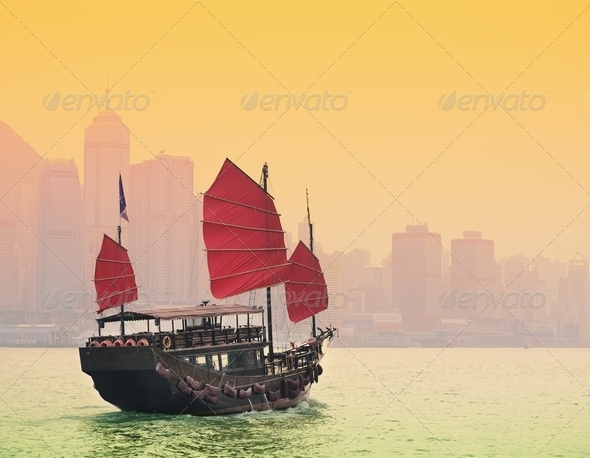 Victoria Harbor Hong Kong - Stock Photo - Images