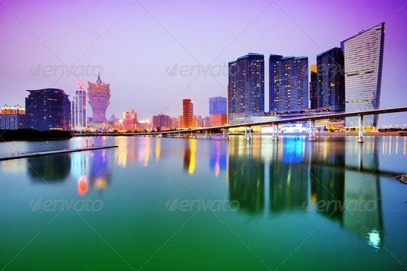 Macau Skyline - Stock Photo - Images