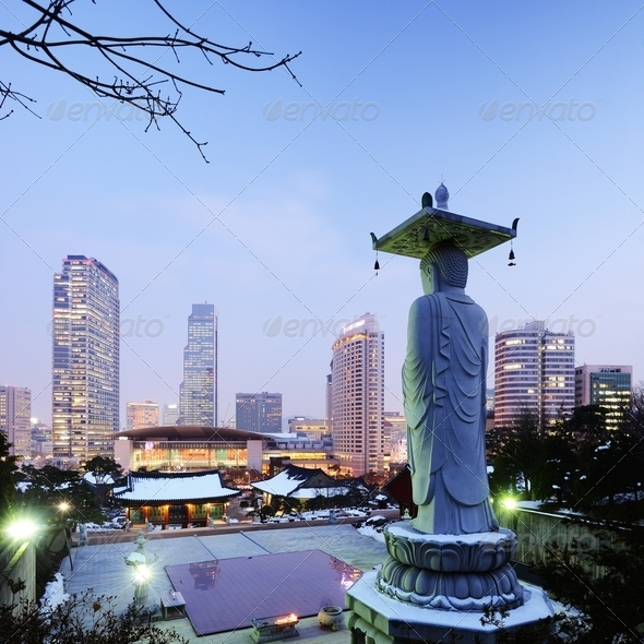 Gangnam Seoul - Stock Photo - Images