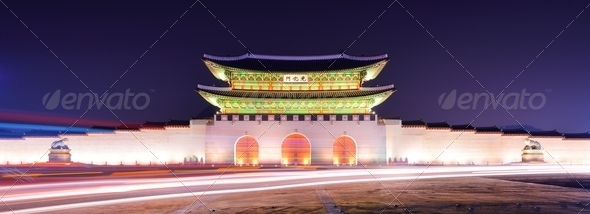 Gwanghwamun Gate in Seoul - Stock Photo - Images