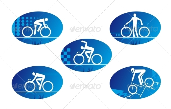 Bicycle Sport Icons - Sports/Activity Conceptual