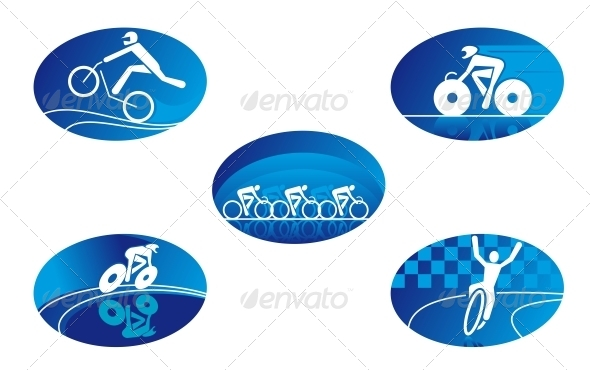 GraphicRiver Bicycle Sport Icons 4241219