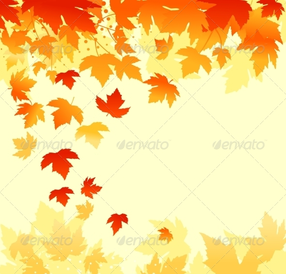 GraphicRiver Autumn Leaves Background 4241284