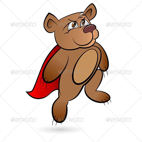 GraphicRiver Bear Superhero 4241386