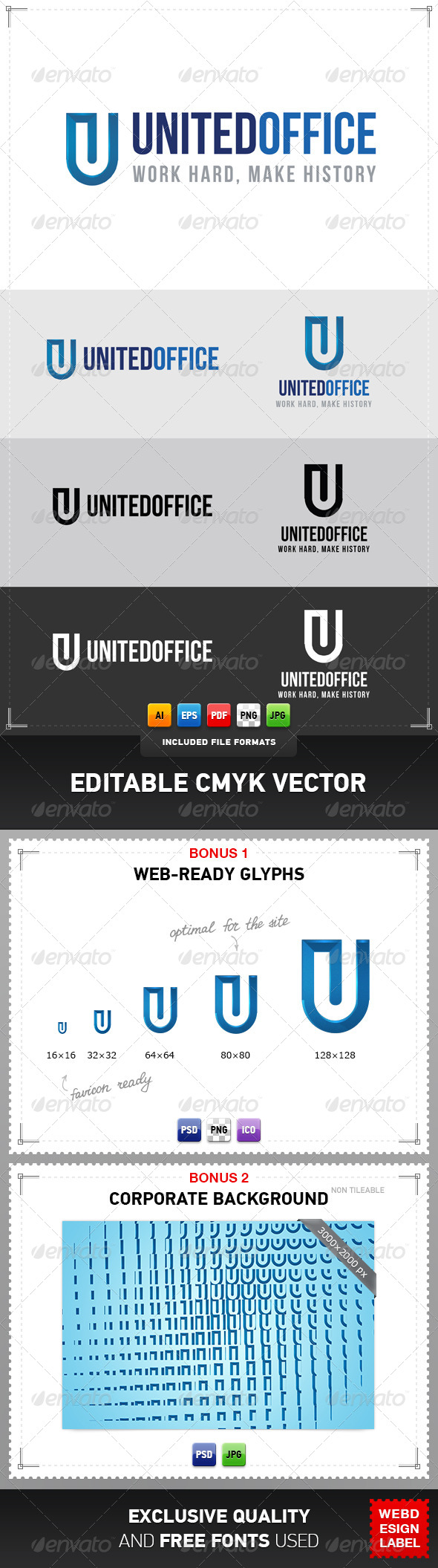 GraphicRiver United Office Logo 4079040