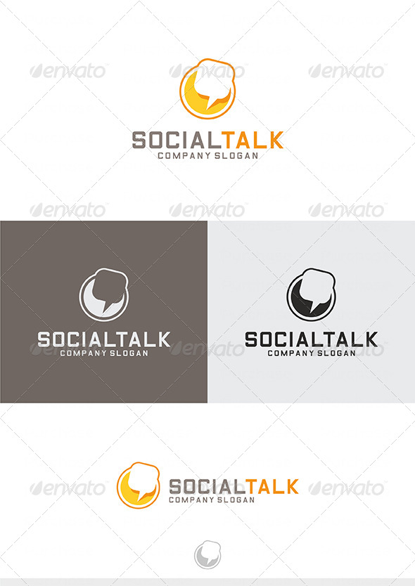 Social Talk Logo - Vector Abstract