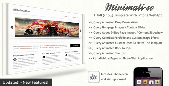 Minimaliso | HTML5 & CSS3 With iPhone WebApp